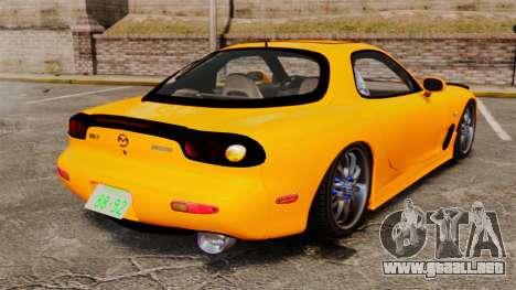 Mazda RX-7 FD3S para GTA 4 Vista posterior izquierda