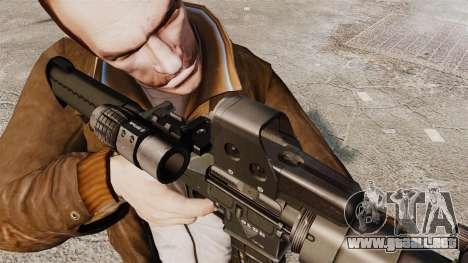 V3 M4 Tactical para GTA 4 quinta pantalla