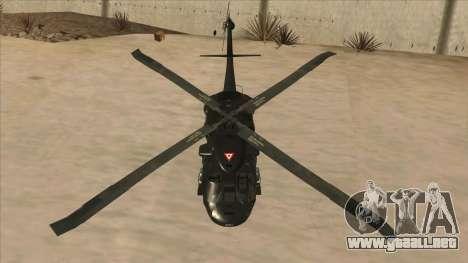 Sikorsky UH-60L Black Hawk Mexican Air Force para vista lateral GTA San Andreas
