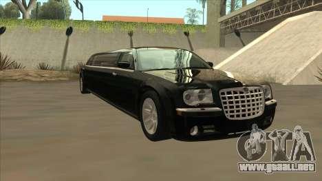 Chrysler 300C Limo 2006 para GTA San Andreas vista hacia atrás