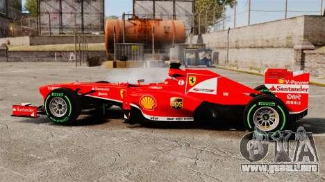 Ferrari F138 2013 v3 para GTA 4 left