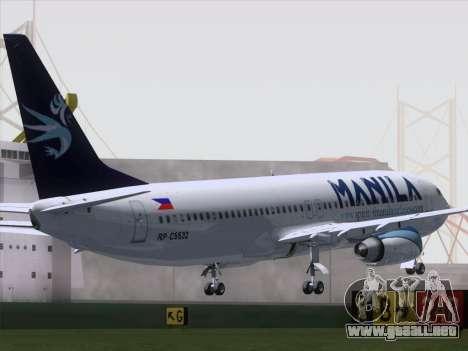 Boeing 737-800 Spirit of Manila Airlines para GTA San Andreas