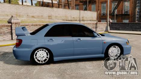 Subaru Impreza WRX 2001 para GTA 4 left