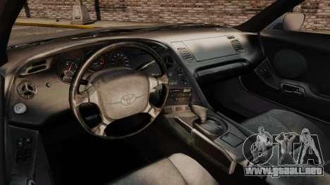 Toyota Supra MKIV 1995 v3.5 para GTA 4 vista hacia atrás