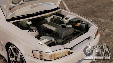 Toyota Mark II 1990 v2 para GTA 4 vista hacia atrás