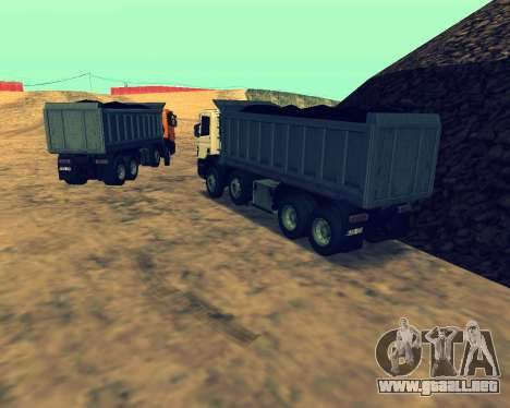Scania P420 8X4 Dump Truck para vista lateral GTA San Andreas