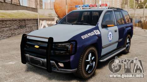 Chevrolet Trailblazer 2002 Massachusetts Police para GTA 4