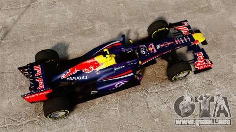Coche, Red Bull RB9 v5 para GTA 4 visión correcta