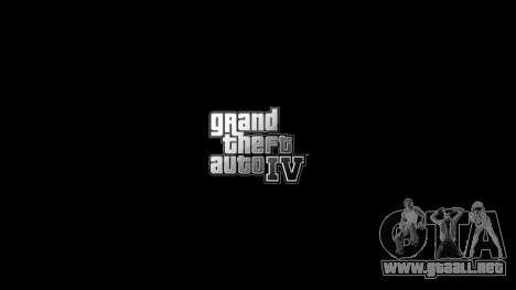 Menús actualizados y pantallas de carga para GTA 4 tercera pantalla
