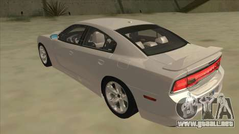 Dodge Charger RT 2011 V2.0 para GTA San Andreas vista hacia atrás