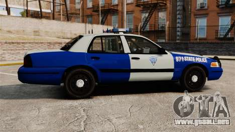 Ford Crown Victoria Police Massachusetts ELS para GTA 4 left