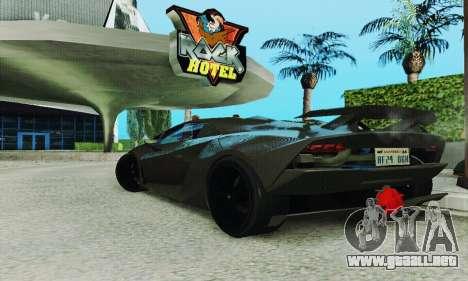 Lamborghini Sesto Elemento para visión interna GTA San Andreas