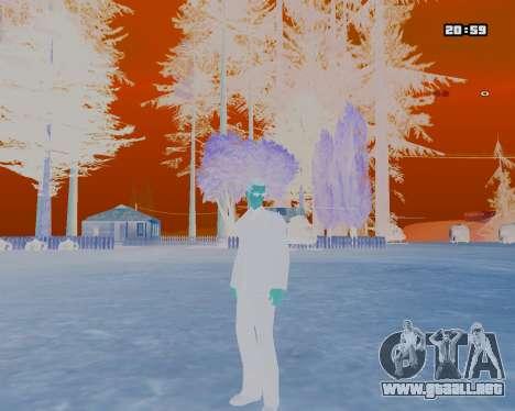 White NarcomaniX Colormode para GTA San Andreas segunda pantalla