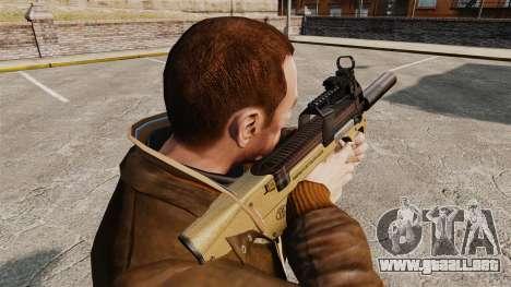 Belga FN P90 subfusil ametrallador v4 para GTA 4 segundos de pantalla