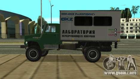 Avtolaboratoriâ GAZ 3309 Sadko para GTA San Andreas left