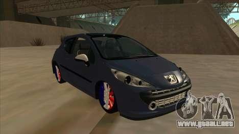Peugeot 207 RC para GTA San Andreas left