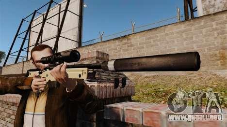 AW L115A1 rifle de francotirador con un silencia para GTA 4 tercera pantalla