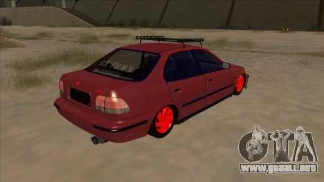 Honda Civic V2 BKModifiye para la visión correcta GTA San Andreas