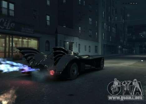 El guión del Batimóvil para GTA 4 segundos de pantalla