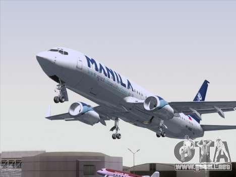 Boeing 737-800 Spirit of Manila Airlines para la vista superior GTA San Andreas