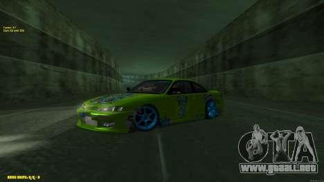 Nissan Silvia S14 CIAY para GTA San Andreas vista posterior izquierda