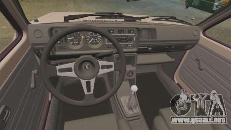 Volkswagen Golf MK1 GTI para GTA 4 vista hacia atrás
