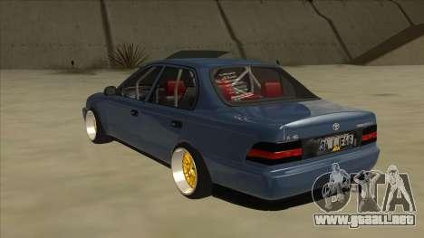 Toyota Corolla 1.6 1997 Hellaflush para GTA San Andreas vista hacia atrás