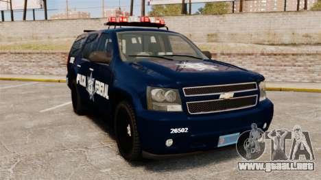 Chevrolet Tahoe 2007 De La Policia Federal [ELS] para GTA 4