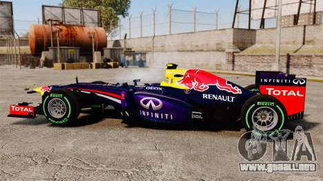 Coche, Red Bull RB9 v3 para GTA 4 left
