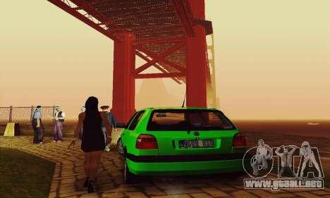 Volkswagen Golf Mk3 GTi 1997 para GTA San Andreas vista hacia atrás
