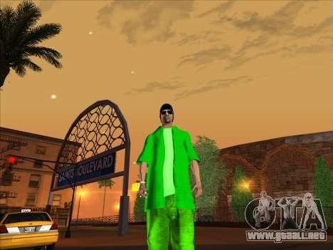 Nueva piel Groove st. para GTA San Andreas quinta pantalla