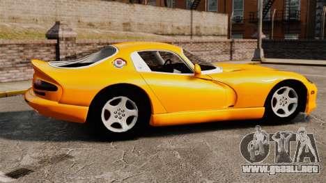 Dodge Viper 1996 para GTA 4 left