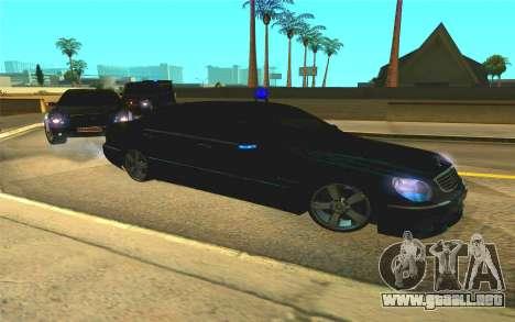Mercedes-Benz S65 AMG W220 para visión interna GTA San Andreas