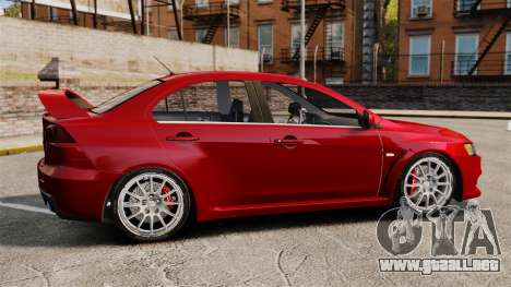 Mitsubishi Lancer Evolution X para GTA 4 left