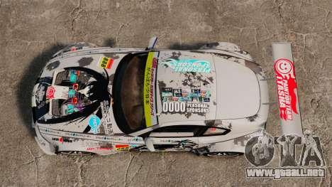 BMW Z4 M Coupe GT Black Rock Shooter para GTA 4 vista hacia atrás