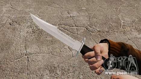 Cuchillo del Alabama Slammer, cromo plateado para GTA 4