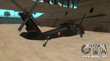 Sikorsky UH-60L Black Hawk Mexican Air Force para la visión correcta GTA San Andreas
