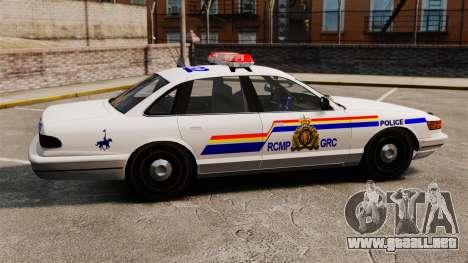 La real policía montada del Canadá para GTA 4 left