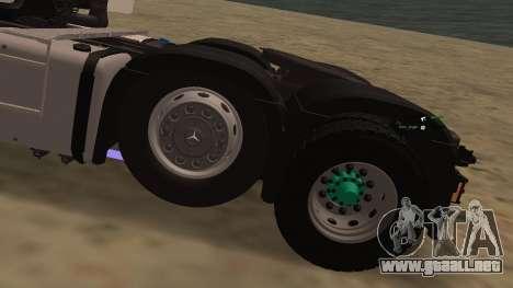Mercedes-Benz Actros para vista lateral GTA San Andreas