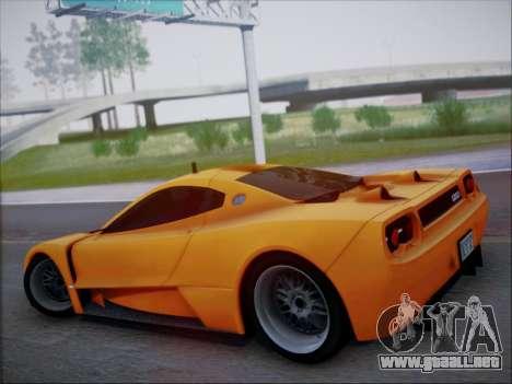 Joss JP1 2010 Supercar V1.0 para visión interna GTA San Andreas