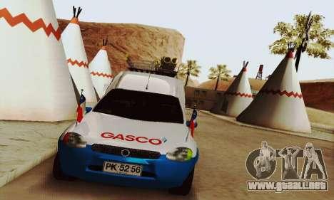 Chevrolet Combo Gasco para GTA San Andreas vista posterior izquierda