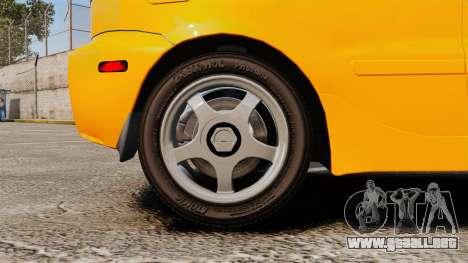 Daewoo Lanos Sport US 2001 para GTA 4 vista hacia atrás