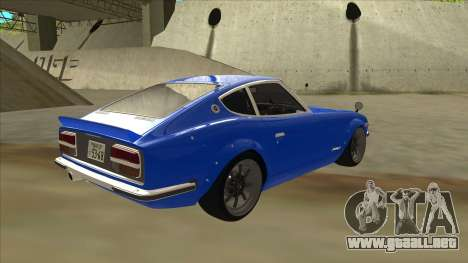 Nissan Wangan Midnight Devil Z S30 para la visión correcta GTA San Andreas