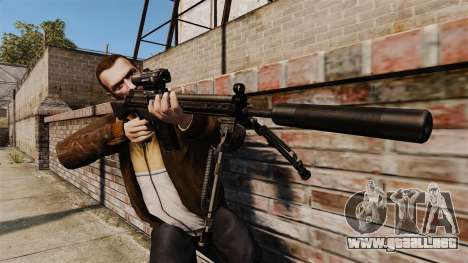 HK G3SG1 sniper rifle v1 para GTA 4 tercera pantalla