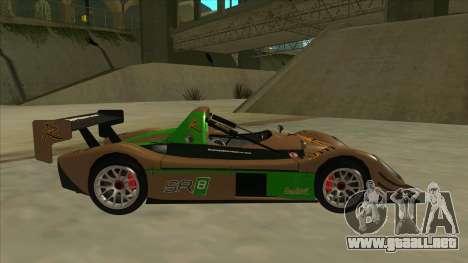 Radical SR8 RX para GTA San Andreas vista posterior izquierda