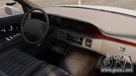Chevrolet Caprice 1994 [ELS] para GTA 4 vista interior