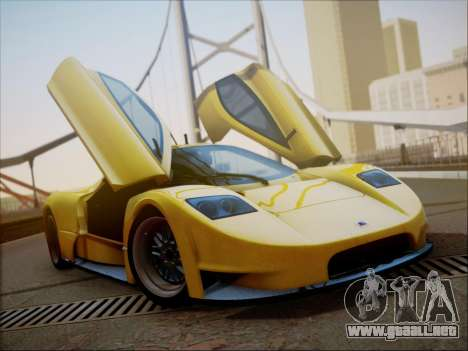 Joss JP1 2010 Supercar V1.0 para la vista superior GTA San Andreas