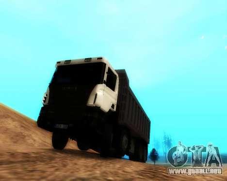 Scania P420 8X4 Dump Truck para GTA San Andreas left