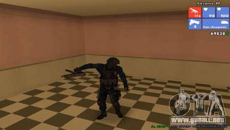 SWAT de piel para GTA San Andreas sucesivamente de pantalla