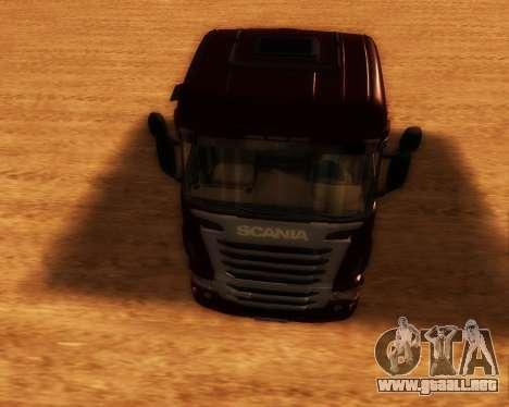 Scania R440 para GTA San Andreas vista hacia atrás